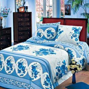 Постельное белье Арт Постель. Цвет: голубой, белый