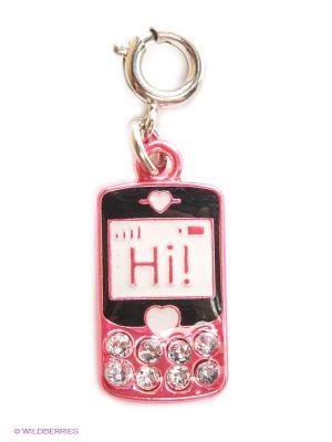 Подвеска на браслет  мобильный телефон CHARM IT. Цвет: малиновый