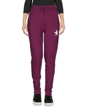 Повседневные брюки MY T-SHIRT. Цвет: розовато-лиловый