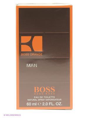 Туалетная вода, 60 мл HUGO BOSS. Цвет: коричневый, оранжевый