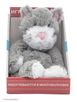 Игрушка-грелка Cozy Plush Кот Warmies. Цвет: серый