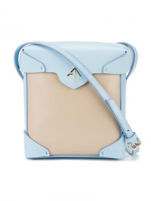 Двухцветная сумка через плечо Pristine Manu Atelier. Цвет: синий