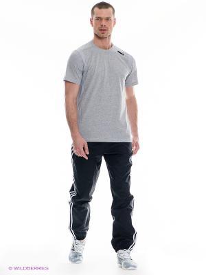 Брюки Adidas. Цвет: черный, белый