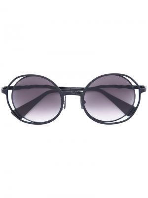 Солнцезащитные очки округлой формы Kuboraum. Цвет: чёрный