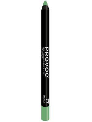 Гелевая подводка в карандаше для глаз PV0077 Gel Eye Liner 77 Envious  (цв. малахит, шиммер) Provoc. Цвет: темно-зеленый