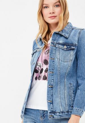 Куртка джинсовая Baon. Цвет: синий