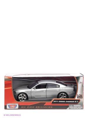 Машинка коллекционная 2011 Dodge Charger R.T Motormax. Цвет: серебристый