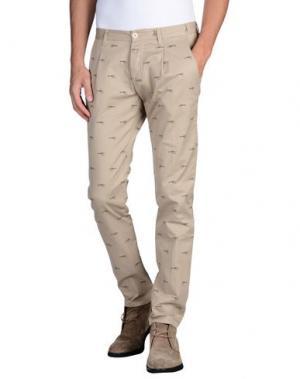 Повседневные брюки OFFICINA 36. Цвет: песочный
