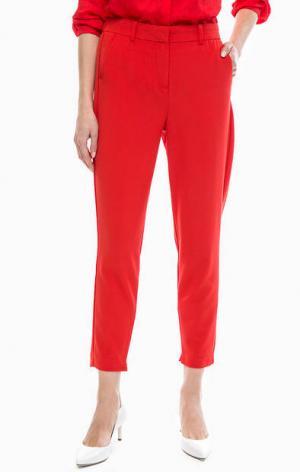 Красные укороченные брюки b.young. Цвет: красный