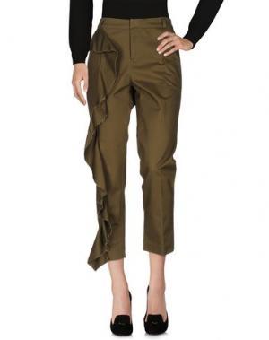 Повседневные брюки NINEMINUTES. Цвет: зеленый-милитари
