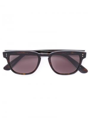 Square frame sunglasses Masunaga. Цвет: коричневый