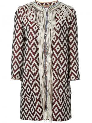 Пальто с бахромой Bazar Deluxe. Цвет: телесный