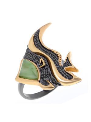 Кольцо Балтийское золото. Цвет: черный, зеленый
