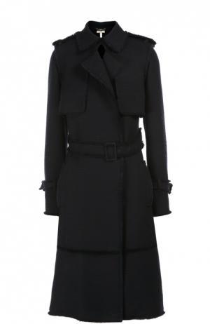Пальто с поясом Erdem. Цвет: темно-синий