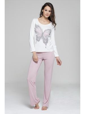 Комплект кофта и брюки MARIPOSA. Цвет: персиковый