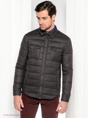 Куртка Henry Cotton's. Цвет: хаки