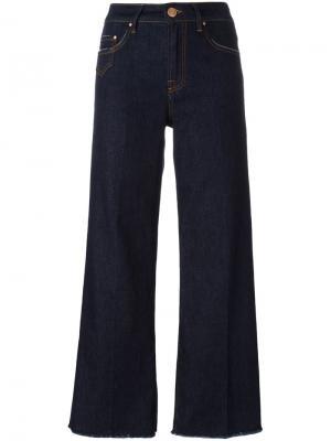 Укороченные брюки кроя буткат Dont Cry Don't. Цвет: синий