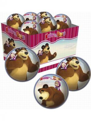 Мяч Маша и Медведь 23 см Unice. Цвет: белый, коричневый, розовый