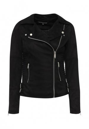 Куртка кожаная Warehouse. Цвет: черный