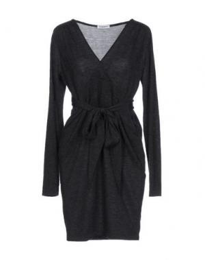 Короткое платье KANGRA CASHMERE. Цвет: свинцово-серый