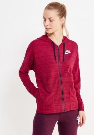 Толстовка Nike. Цвет: бордовый