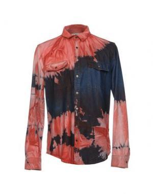 Джинсовая рубашка MSGM. Цвет: красный