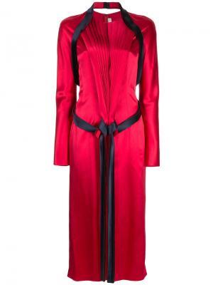 Платье с переплетением Dion Lee. Цвет: красный