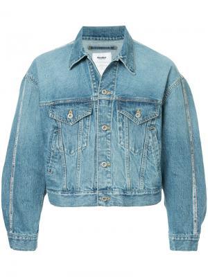 Укороченная джинсовая куртка Doublet. Цвет: синий