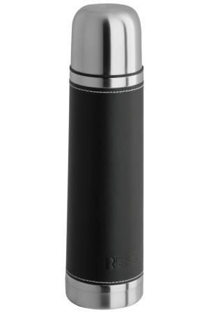 Термос в коже 0,7 л Regent Inox. Цвет: черный