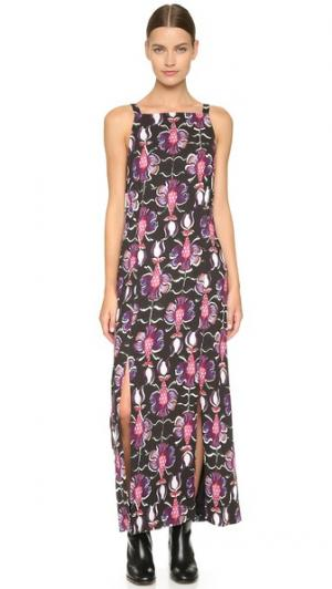 Платье с двумя разрезами Wes Gordon. Цвет: аметист
