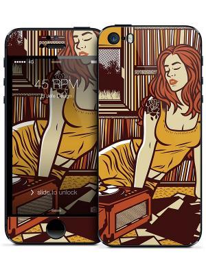Наклейка для iPhone 5/5S 45 RPM El - Jefe Design Gelaskins. Цвет: желтый, коричневый
