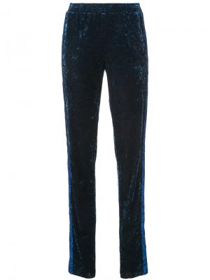 Starburst velvet track pants Anna Sui. Цвет: синий