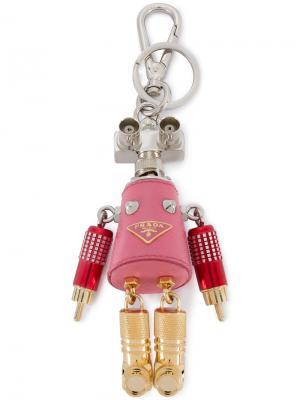 Подвеска на сумку в виде робота Giulietta Prada. Цвет: розовый и фиолетовый