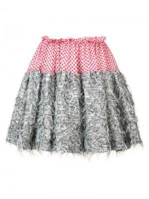 Присборенная юбка Tulle Jourden. Цвет: красный