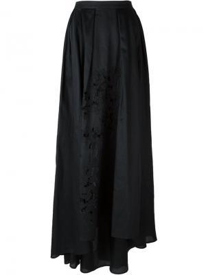 Плиссированная юбка Daniele Carlotta. Цвет: чёрный