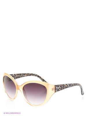 Солнцезащитные очки TOUCH. Цвет: желтый, коричневый