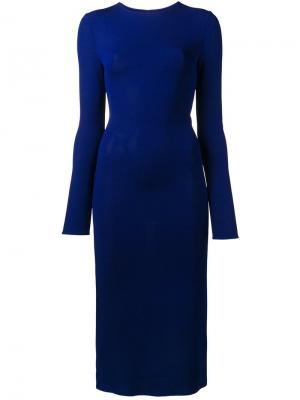 Облегающее платье с вырезными деталями Esteban Cortazar. Цвет: синий