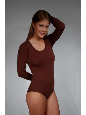 Блузка- боди Lowry. Цвет: коричневый