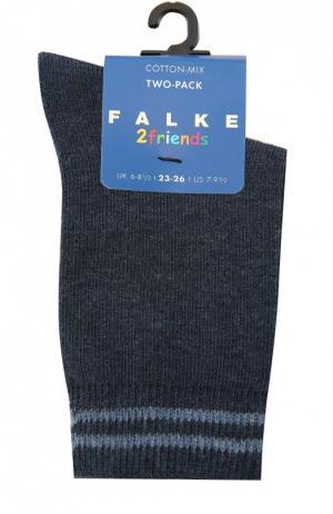 Комплект из двух пар носков Falke. Цвет: синий