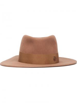 Фетровая шляпа Thadee Maison Michel. Цвет: телесный
