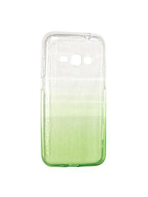 Крышка задняя для Samsung Galaxy J1 2016/J120 Силикон IQ Format. Цвет: зеленый