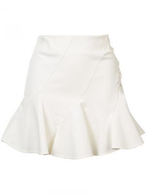 Мини юбка со шнуровкой сбоку Derek Lam 10 Crosby. Цвет: белый