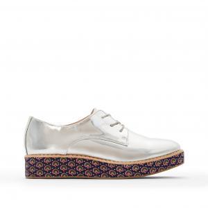 Ботинки-дерби с подошвой рисунком R édition. Цвет: серый/зеркальный