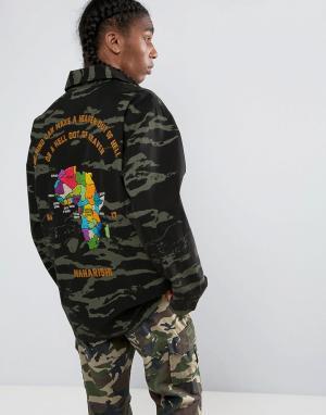 Maharishi Камуфляжная куртка-рубашка Tour DAfrique. Цвет: черный