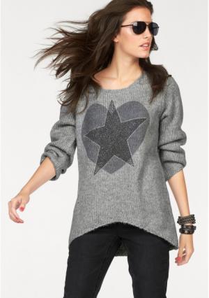 Пуловер Aniston. Цвет: серый