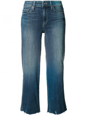 Широкие укороченные джинсы Paige. Цвет: синий