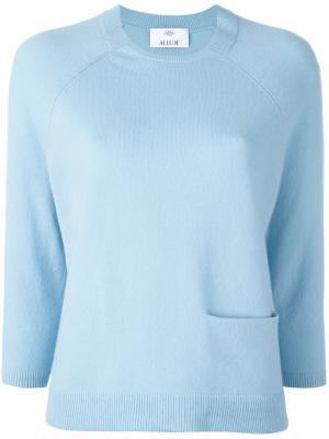 Свитер с карманом Allude. Цвет: синий