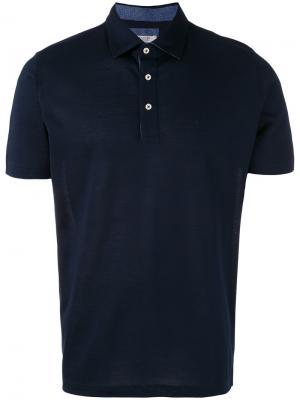 Рубашка-поло La Fileria For Daniello D'aniello. Цвет: синий