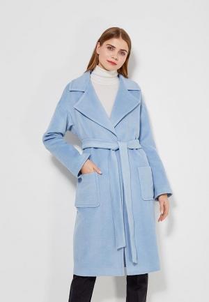 Пальто Lezzarine. Цвет: голубой