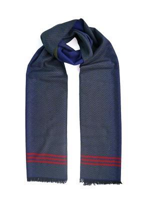 Мужской шарф LANYINGDI ША-31 30*180 100% шелк. Цвет: синий, рыжий